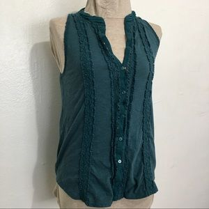 3/$25 Meadow Rue Anthro Size Xsmall turquoise blue